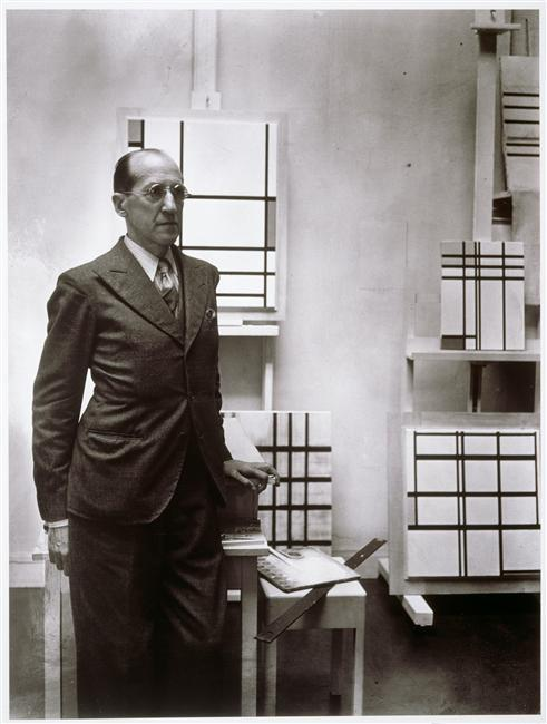 Piet Mondrian in his NYC studio 1944