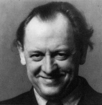 This is an image of the artist Kurt Schwitters taken in London, 1944